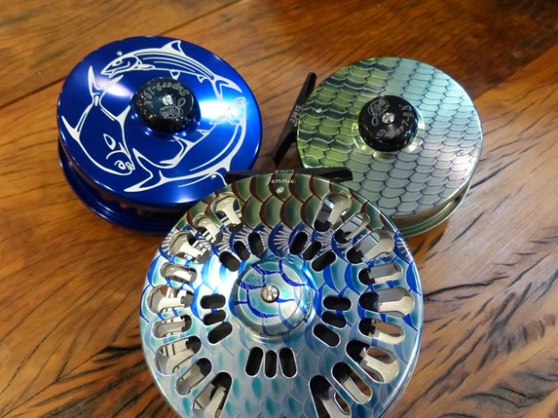 Abel Fish Graphic and Engraved Reels