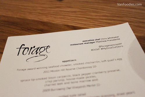 Dine Out at Forage