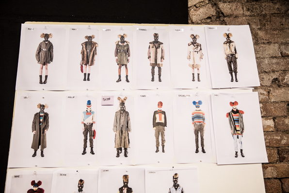 Masked military looks at Diesel Fall Winter 2014 board