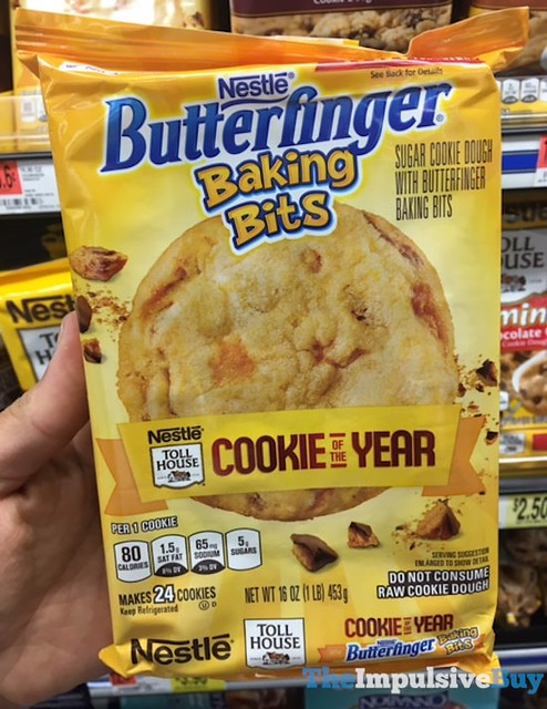 Nestle Toll House Cookie of the Year Nestle Butterfinger Baking Bits Cookies