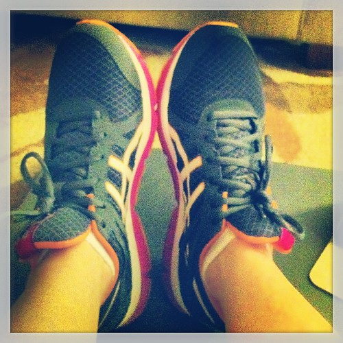 Love my new cross-trainers. Way better for my @fitnessblender workouts than heavy motion control runners.