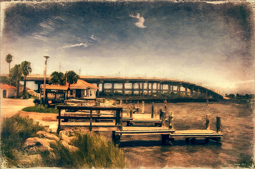 Topaz ReStyle image of ICW in Ormond Beach