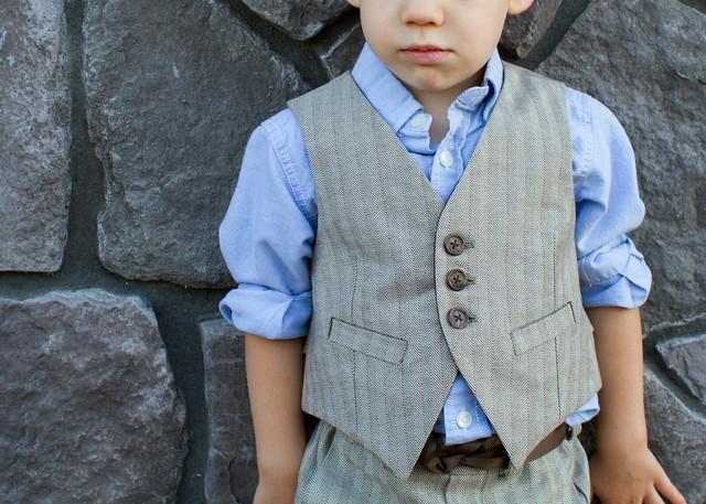 herringbone art museum vest and trousers