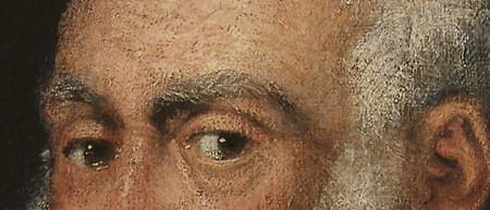Tintoretto uomo barba bianca part.