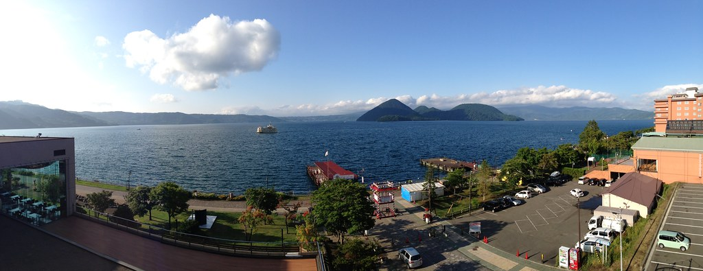 Panorama of Lake Toya from the Room Balcony
