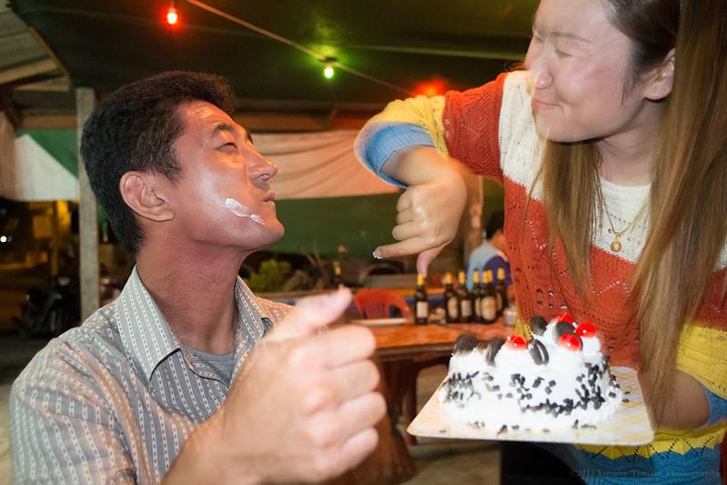 birthday party crashers, Huay Xai, border town in Laos