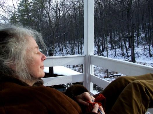Rachel on porch 2