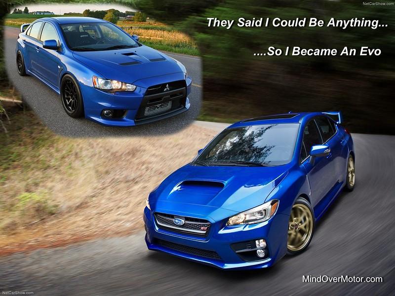 2015 Subaru STI and Mitsubishi Evo X