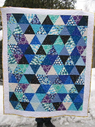 Triangle Constellations quilt
