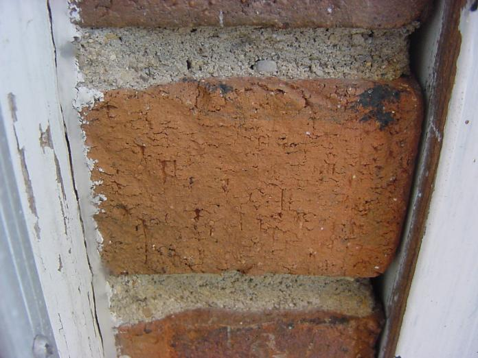 Brick in the door jamb