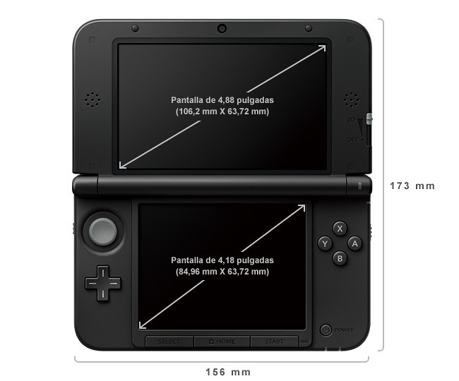 3DS XL dimensiones