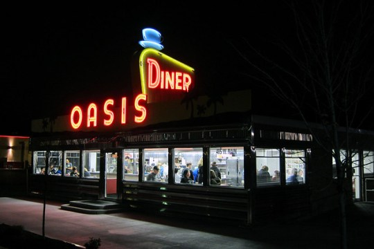 Oasis Diner - 405 West Main Street, Plainfield, Indiana U.S.A. - December 6, 2014