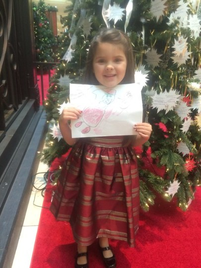 with her picture for Santa