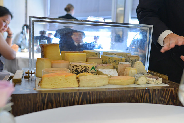 Selection of cheeses from the trolley