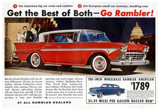 1958 Rambler Rebel and American