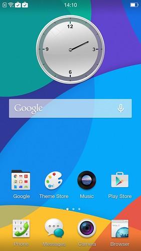 Home screen ของ Oppo R5