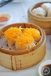 Prawn and scallop dumpling with shark fin and prawn roe