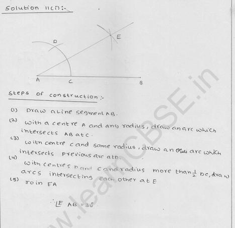 RD Sharma Class 9 solutions Chapter 17 Constructions Ex 17.2 Q 12