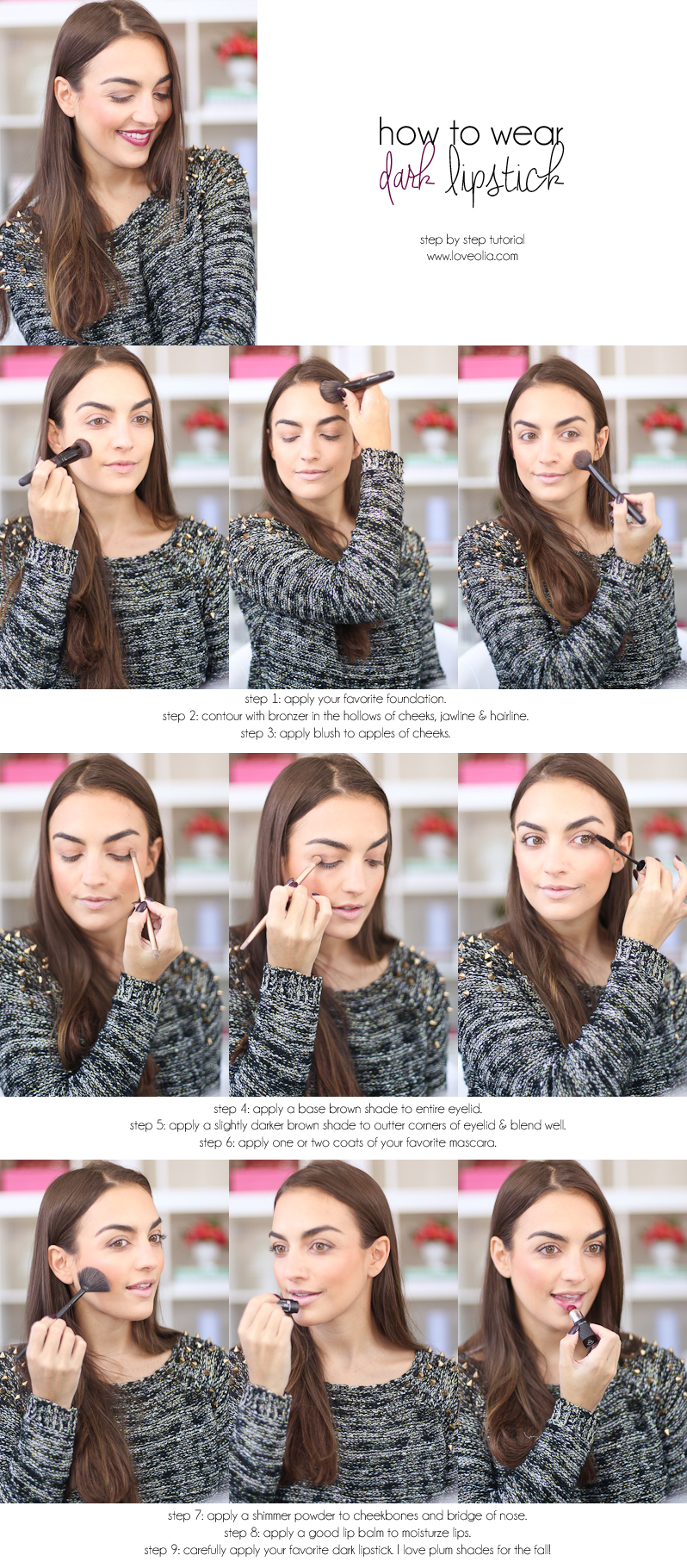 how to wear dark lipstick step by step makeup tutorial