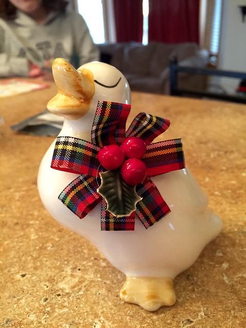 Christmas goose Jacey bid on and won at school ;)