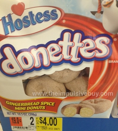 Hostess Donettes Gingerbread Spice Mini Donuts