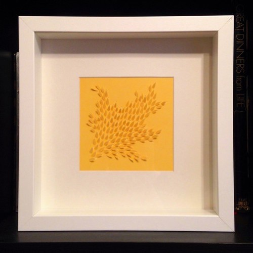 Framed paper cut commission