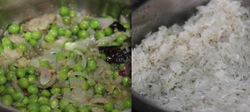 Peas Pulao step4
