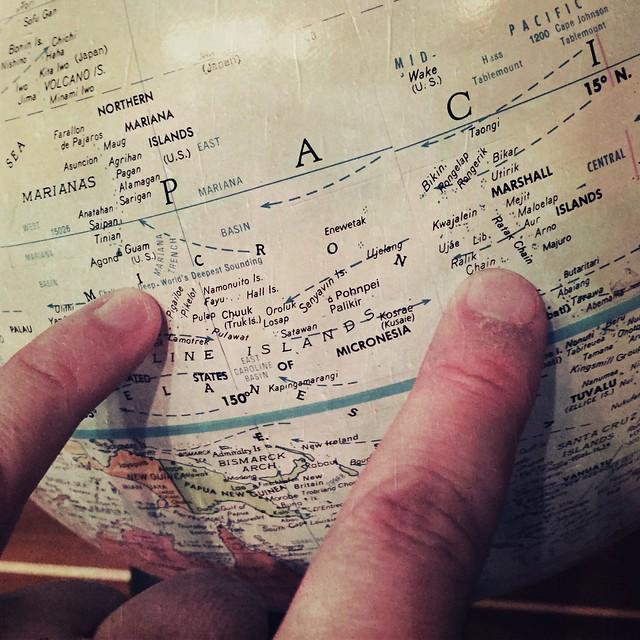 Marshall Islands On My Globe