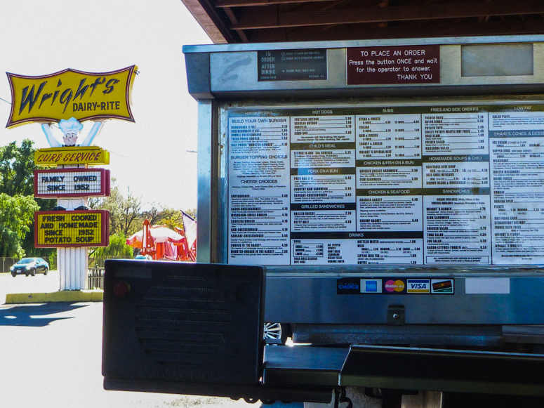wright's dairy-rite menu staunton, va