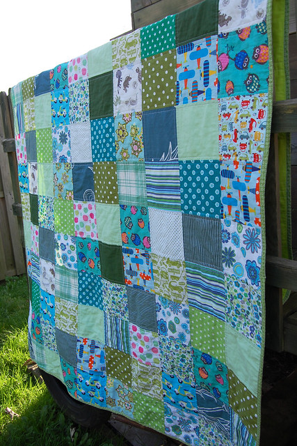 LB patchwork blanket - finished