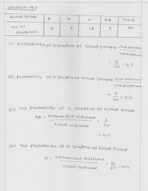 RD Sharma Class 9 Solutions Chapter 25 Probability 6