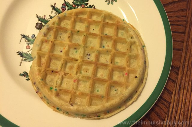 Kellogg's Limited Edition Eggo Seasons Confetti Waffles Naked