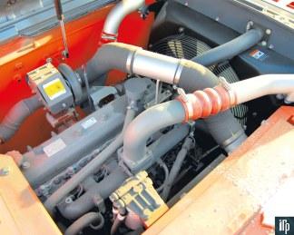 моторный отсек Doosan DX225