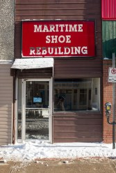 Maritime Shoe Rebuilding - Front