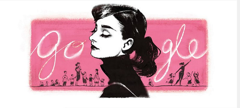 奧黛麗赫本(Audrey Hepburn) from google doodle