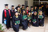 Twenty students graduated with master's in library and information science from UH Manoa on May 14, 2016.  Photo by Andrew Wertheimer