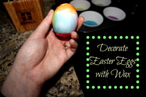decorating easter eggs with wax