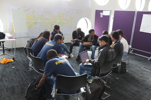 Student Involvement in Mozilla Communities Session. Photo by Christos.
