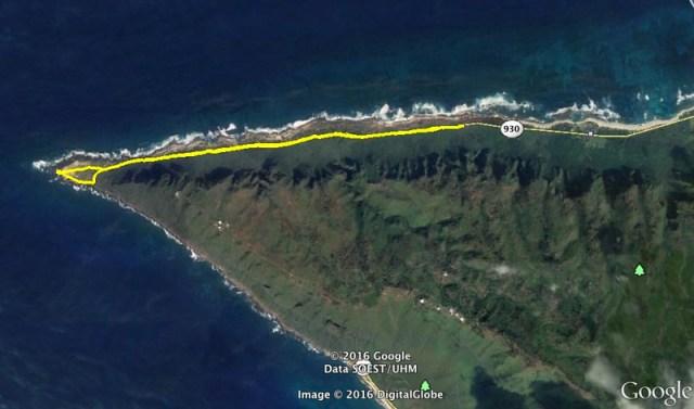 Kaena Point Google Earth Map1