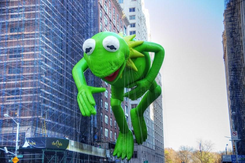 Kermit the Frog balloon.