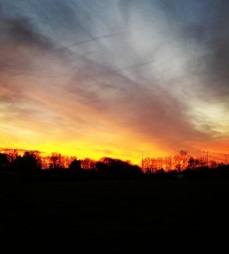 Laten we eens die mooie zonsondergang delen op instagram