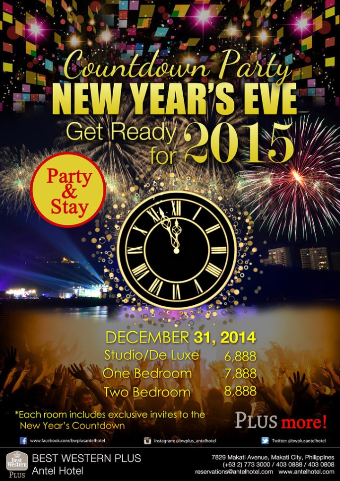 New Years Countdown 2015 Flyer