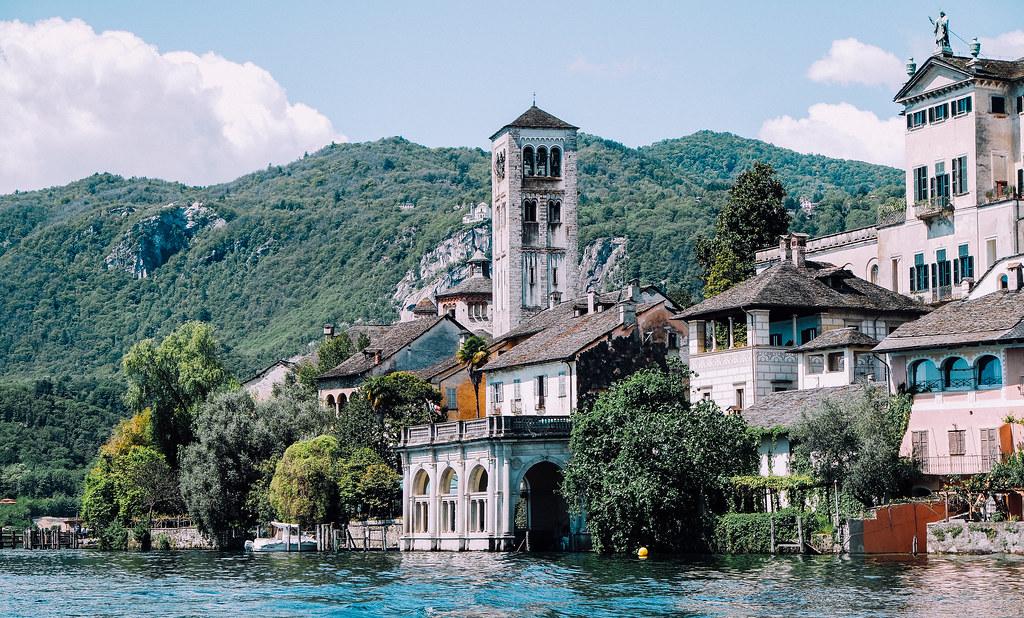 Isola di San Giulio sul Lago d'Orta