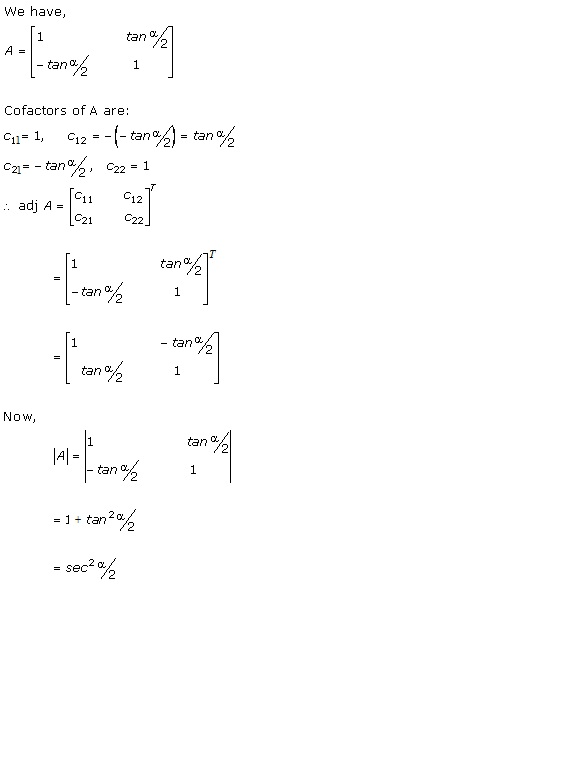 RD Sharma Class 12 Solutions Chapter 7 Adjoint and Inverse of Matrix Ex 7.1 Q1-iv