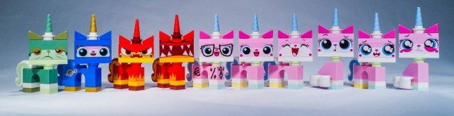 All the Uni-Kitty Minifigs