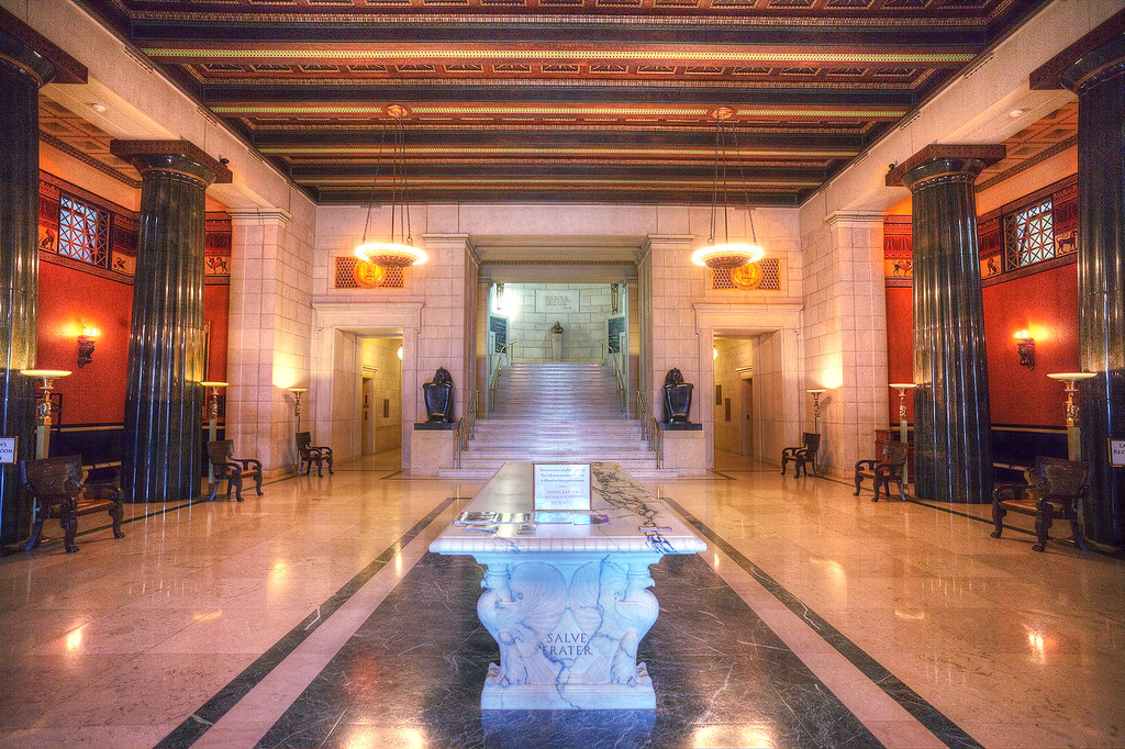Atrium inside the Scottish Rite Temple