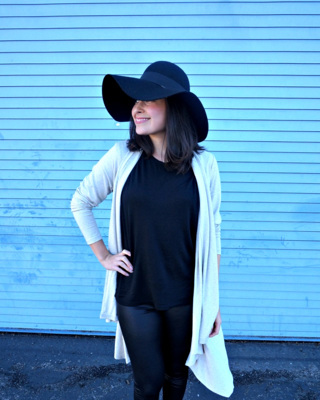 Seamly cardigan + Everlane Muscle tee