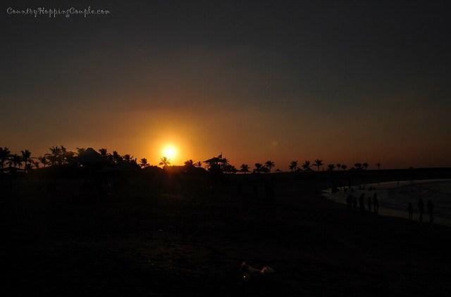 Sunset Al Mumzar beach