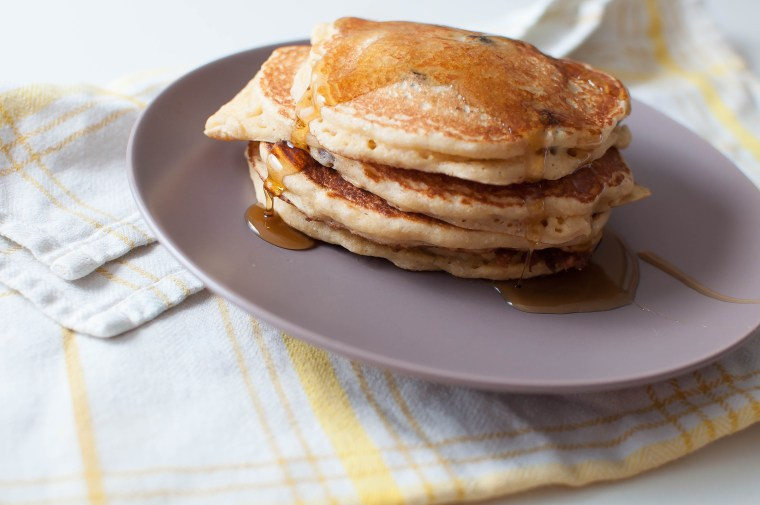 Corny Banana Blueberry Pancakes 3