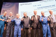 Jan Woerner with ESA astronauts